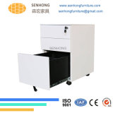 Office Metal Mobile Pedestal Filing Cabinet with 3 Drawers