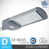 90W Bridgelux Chips LED Street Lights IP65&Ik08, Lm-79