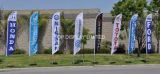 Custom Promotion Advertising Printing Teardrop Feather Flying Beach Flag