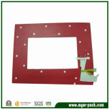 Lovely Red Wooden Picture Frame with Cartoon Pattern