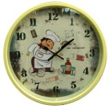 12 Inch Home Decoration Plastic Home Goods Wall Clock, Round Plastic Wall Clock (LZ006)