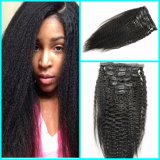 Kinky Straight Brazilian Human Hair Clip in Hair Extension