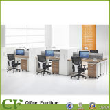 Aluminum Framed Fabric Partition Pedestal Modular Office 6 Person Workstation for New Office