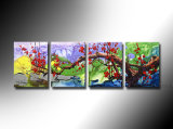 100% Handmade Flower Canvas Acrylic Painting (FL4-055)