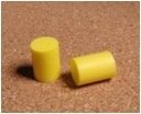 Cylinder-Shaped PU Foam Earbuds Safety Equipment Ce Approved