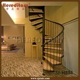 Simple Mild Steel Spiral Staircase with Wood Treads (SJ-3002)