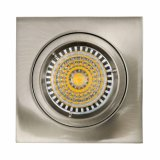 Die Cast Aluminum GU10 MR16 G5.3 Square Satin Nickel Fixed Recessed Halogen LED Lamp (LT1101)