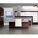 Assembled Varnish Wood Veneer Kitchen Cabinet