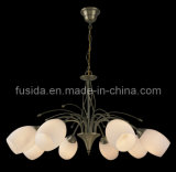Traditional European Style Home Decoration Light White Glass Chandelier