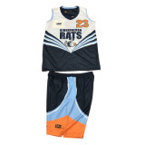 Single Layer Reversible Basketball Jersey with Custom Logo