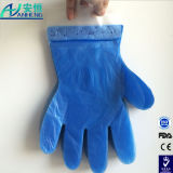 Disposable Blue HDPE Glove with Header Card Packing