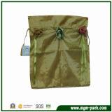 China Manufacturer Gold Canvas Drawstring Bag