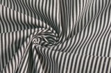 Black/White Classical Stripe Plain Polyester Cotton Shirt Fabric