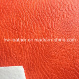 Embossed Lichee Pattern PU Leather for Shoes Hw-941