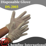 CE/ ISO Approved Yellow Powdered Synthetic Disposable Glove with Rolled Cuff/ En420; En455
