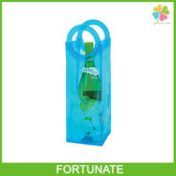 Eco-Friendly PVC Durable Easy Carry Portable Wine Chiller Plastic Bag