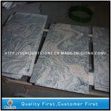Polishing China Juparana / Sand Wave Granite Flooring Tiles for Kitchen