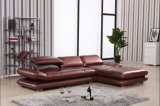 Brown Color Leather Corner Sofa of Chinese Furniture Al503