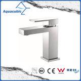 Square Base Solid Brass Body Single Handle Basin Tap (AF6028-6A)