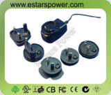 Universal Power Adapter with Interchangeable USA, EU, AU, UK Plugs