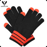 Fashion Unisex Acrylic Knit Three Finger Touch Screen Glove
