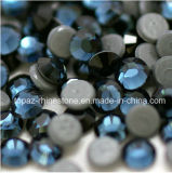 Montana Heat Transfer Hot Fix Glass Crystal Beads Hot Fix Rhinestone (HF-ss20 montana/4A grade)