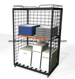 Retail DVD/Coat/Bag/Food Metal Display Shelf Rack