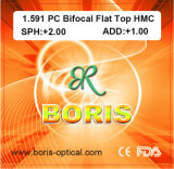 1.591 Polycarbonate Lens PC Bifocal Flat Top Hmc Optical Lenses