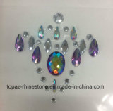 China Best Selling Skin Safe Party Body Stickers Acrylic Rhinestone Chest Stickers Body Jewels Face Stickers (FS066)