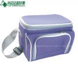 Customized Shoulder Strap Portable Cool Food Bag with Front Pocket