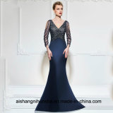 V Neck Mermaid Long Evening Dress