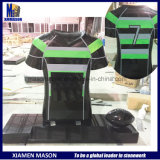 Customized Black Rugby Jersey Headstone with Granite Ball