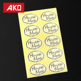100PCS Zakka Style Elliptical Hand Made Scrapbook Stickers Seal Label Package
