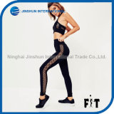 Sexy Women Capris with Mesh Side Design Breathable Sports Pants