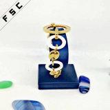 Promotional Dubai Luxury Gold Crystal Women White Ceramic Charm Bracelet