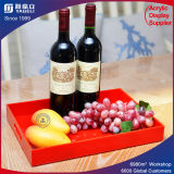 Red Plastic Fruit Tray Service Tray