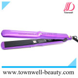 Fast Heat up Hair Flat Iron with Smooth Titanium Plates Without Snages