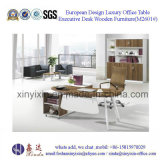 Malaysian Wooden Furniture Modern Melamine Office Manager Desk (M2601#)