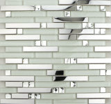 Crystal Glass Mix Stainless Steel, Mosaic Mirror Tiles