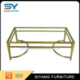 European Gold Metal Feet Accent Coffee Table with Mirror Tops