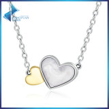 925 Sterling Silver Luminous Hearts Feature Pendants Necklace for Women Fine Jewelry