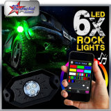 Cheapest Price 8PC Pods Red/Blue/White/Green/Amber Single Color 9W CREE Chip LED Decoration Car Light off Road LED Rock Lights Under Boat Lights for Jeep