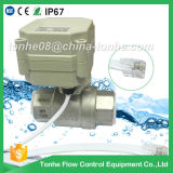 "3/4"" Dn20 Ss304 NSF61 Electric Ball Motorized Valve DC3.6V with Telephone Line Connector"