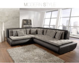 U Shape Genuine Leather Sofa for Living Room (SF069)