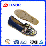 Fashion Flat and Comfortable Espadrilles Shiny Lady Shoes (TN36706)
