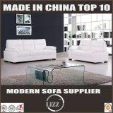Modern White Italian Leather Sectional Sofa in Foshan
