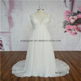 Beach Style Chiffon V-Neck Wedding Dress
