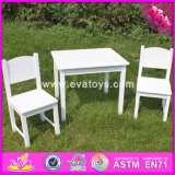 2017 Wholesale Wooden Toddler Table and Chairs, White Wooden Toddler Table and Chairs, Best Sale Toddler Table and Chair W08g145