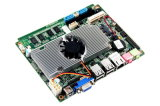 D525-3 OEM P7350 CPU Cheapest Mainboard with Ports 1*VGA, 1*LAN, 4*USB, 1*Mic-out/Line-out, 1*DC Power Supply