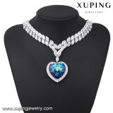 43187 Fashion Luxury Big Heart of The Ocean Necklace for Wedding or Party